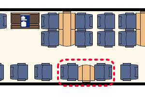 ユーロシティ座席表