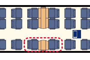 ユーロシティエクスプレス座席表