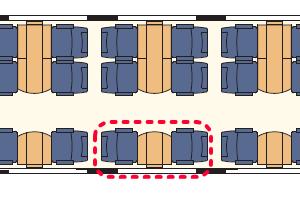 トランサルピン 座席表
