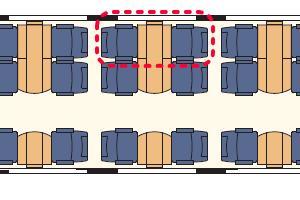氷河特急 座席表
