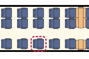 ZSSKインターシティ座席表