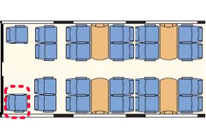 フレッチェロッサ座席表