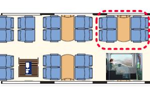 OBBレイルジェット座席表