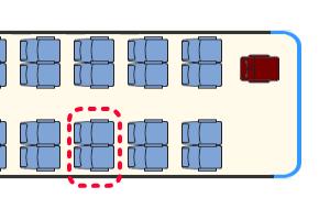 ベルニナバス 座席表