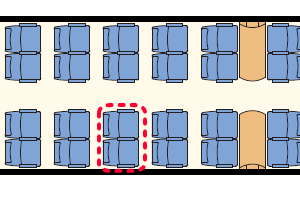FSインターシティ座席表
