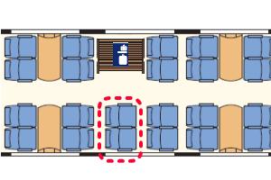 CDレイルジェット座席表