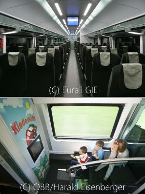 OBB Railjet 2等座席写真