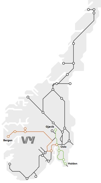 ベルゲン鉄道座席表